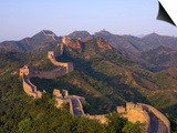 The Great Wall, Near Jing Hang Ling, Unesco World Heritage Site, Beijing, China Print by Adam Tall