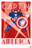 Marvel Retro - Captain America Poster