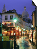 Rainy Street and Dome of the Sacre Coeur, Montmartre, Paris, France, Europe Posters by Gavin Hellier