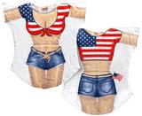 Miss America Bikini Cover-Up Skjorte