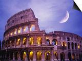 The Colosseum at Night, Rome, Italy Poster by Terry Why