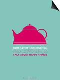 Tea Poster Pink Kunstdrucke von  NaxArt