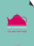 Tea Poster Pink Prints by  NaxArt