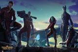 Guardians of the Galaxy - Group Landscape Plakaty