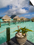 Pearl Beach Resort, Bora-Bora, Leeward Group, Society Islands, French Polynesia Art by Sergio Pitamitz