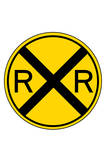 Railroad Crossing Plastic Sign Wall Sign