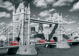 London Tower Bridge Buses Posters