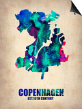 Copenhagen Watercolor Poster Prints by  NaxArt