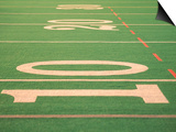 The Ten Yard Line on a Football Field Plakater av Kindra Clineff