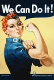 Rosie the Riveter (We Can Do It!) Plastic Sign Wall Sign