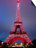 Eiffel Tower Decorated for Chinese New Year, Paris, France Prints by Bruno Morandi