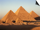 Pyramids at Sunset, Giza, Unesco World Heritage Site, Near Cairo, Egypt, North Africa, Africa Prints by Doug Traverso