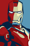 Iron Man 2 Movie (Artistic Stylized Iron Man) Plastic Sign Plastic Sign