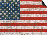 American Flag in Mosaic Posters by Rudi Von Briel