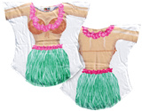 Hula Girl Cover-Up T-Shirt