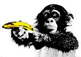 Monkey Banana Plakaty