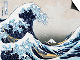 The Great Wave at Kanagawa (from 36 views of Mount Fuji), c.1829 Print
