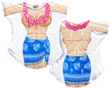 Blue Sarong Cover-Up T-Shirt