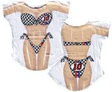 Race Car Girl Bikini Cover-Up T-Shirt