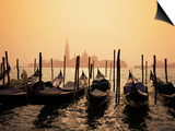 Gondolas and the Church of San Giorgio Maggiore, Venice, Veneto, Italy Prints by Roy Rainford