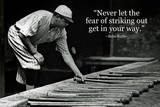 Babe Ruth Striking Out Famous Quote Plastic Sign Cartel de plástico