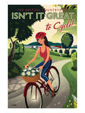 The British Countryside, Isn't It Great to Cycle! Prints by Michael Crampton