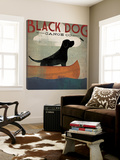 Black Dog Canoe Kunst av Ryan Fowler
