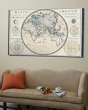 Plan de Meridien Blue Border Prints by Sue Schlabach