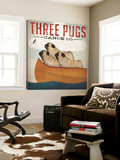 Three Pugs in a Canoe Poster von Ryan Fowler