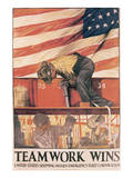 Teamwork Wins Prints by Hibberd V.B. Kline
