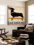 Dachshund Longboards Prints by Ryan Fowler