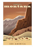 Explore Montana, See America Print by Michael Crampton