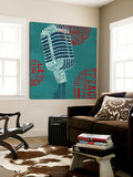 Type Mic Square Posters by Michael Mullan