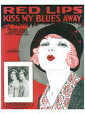 Song Sheet Cover: Red Lips Kiss My Blues Away Prints