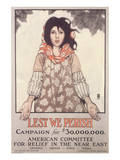 Lest We Perish, Campaign For $30,000,000 Art by Ethel Franklin Betts