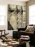 Vintage NY Manhattan Bridge Poster av Michael Mullan