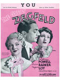Song Sheet Cover: The Great Ziegfield Prints