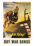 Keep Him Flying! Poster by George Schreiber