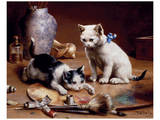 Playful Kittens Prints by Carl Reichert