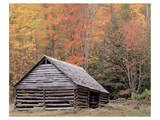 Smokies Roaring Fork Fall Cabin Prints by Danny Burk