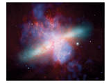 NASA - M82 Rainbow Galaxy Art