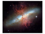 NASA - Starburst Galaxy M82 Poster