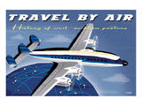 Travel By Air, History of Civil Aviation Posters Posters by Michael Crampton