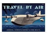 Travel By Air, Imperial Airways Empire Flying Boat Plakat autor Michael Crampton