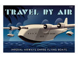 Travel By Air, Imperial Airways Empire Flying Boat Poster by Michael Crampton