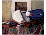 Still Life with Violin Posters by Henri Ottmann