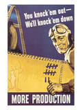 You Knock'em Out We'll Knock'em Down Posters by John Falter