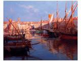 Port de St Tropez, Cote D'Azur Art by Emile Joseph Humblot