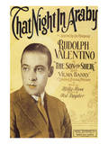 That Night in Araby, Rudolph Valentino Prints