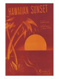 Song Sheet Cover: Hawaiian Sunset Prints